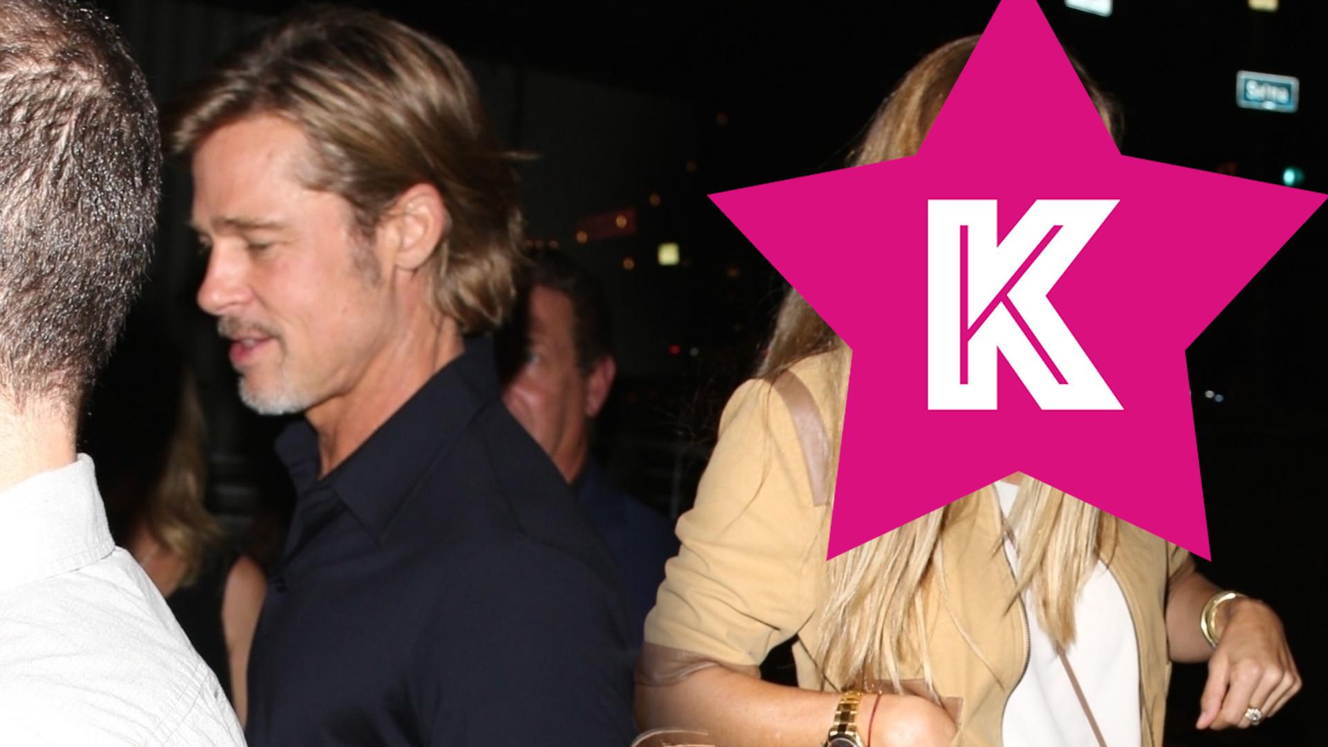 Ona jest NOWĄ dziewczyną Brada Pitta? Wyszedł z nią z imprezy (ZDJĘCIA)