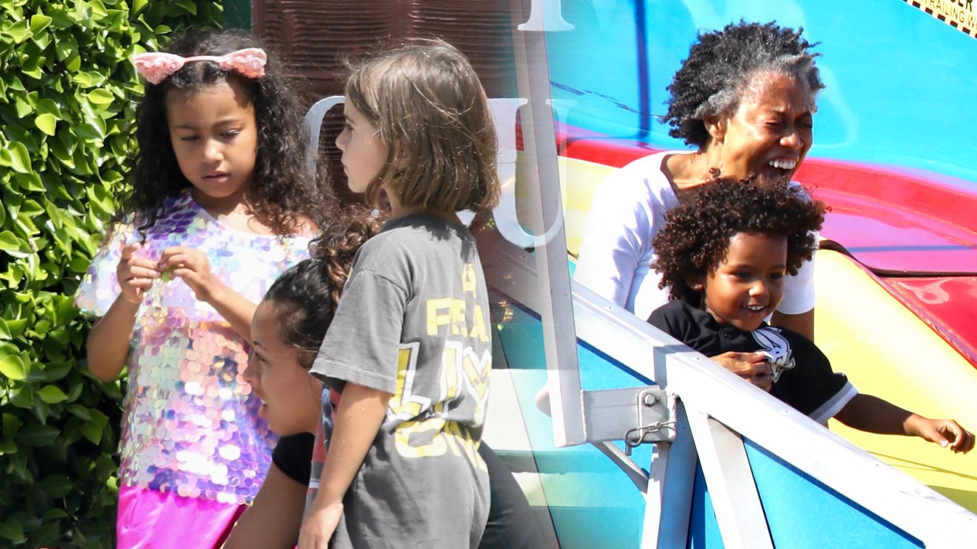 Dzieci Kim Kardashian bawią się pod opieką niani – ich mama zaczęła studia prawnicze (ZDJĘCIA)