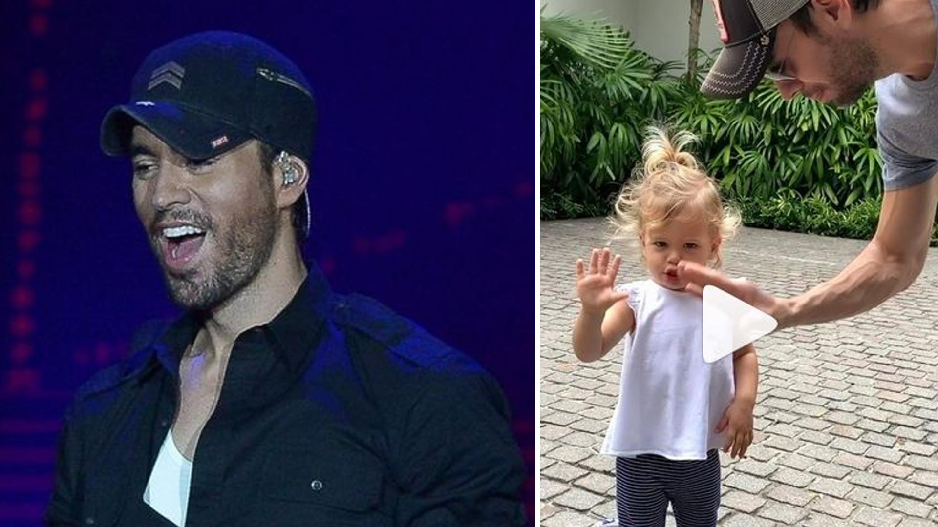 Enrique Iglesias nagrał video z 2-letnią córką. Jest taka słodka!