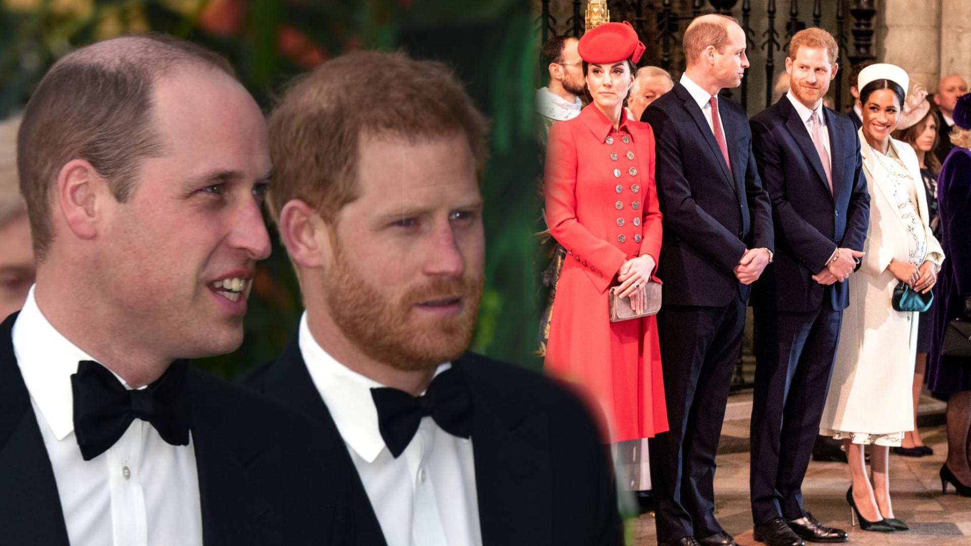 Konflikt Williama i Harry'ego się potwierdził. Na dworze królewskim ZAMĘT