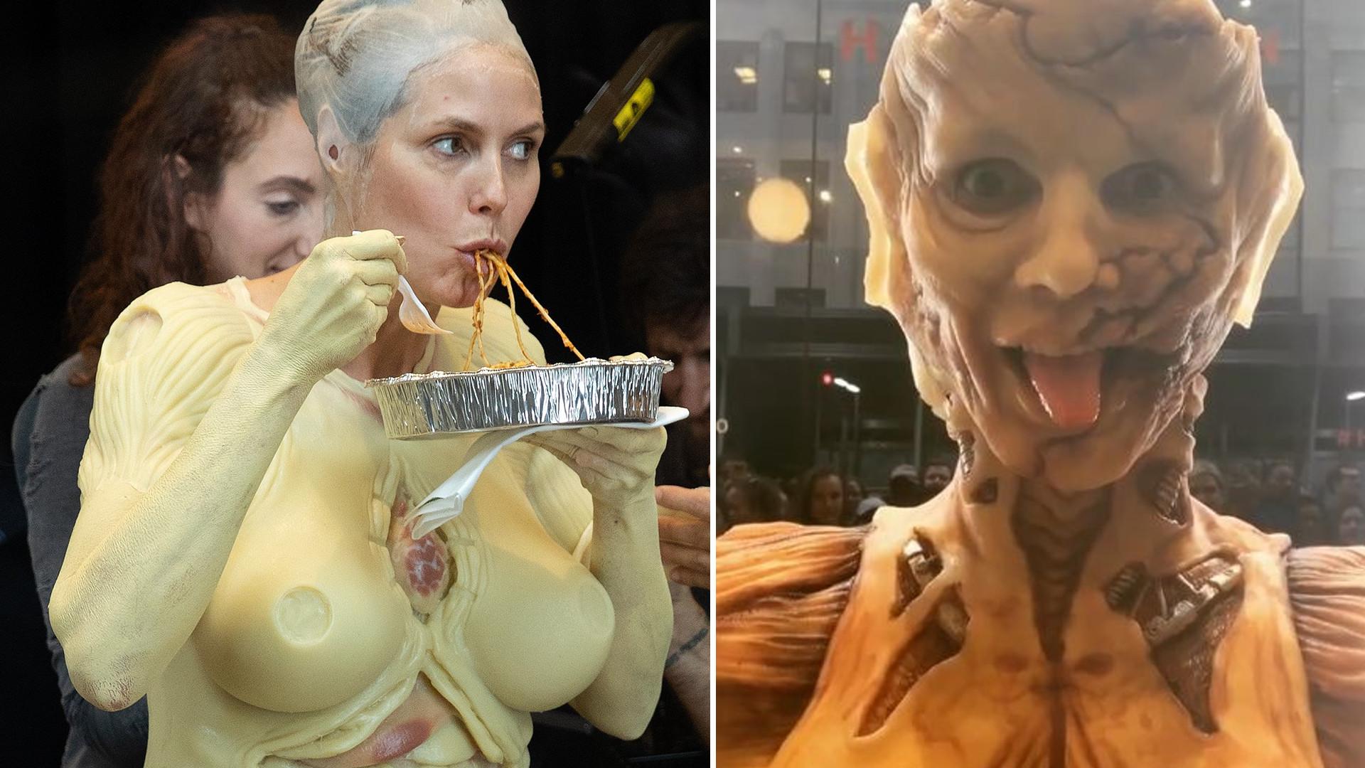 Przerażający kostium halloweenowy Heidi Klum (ZDJĘCIA)