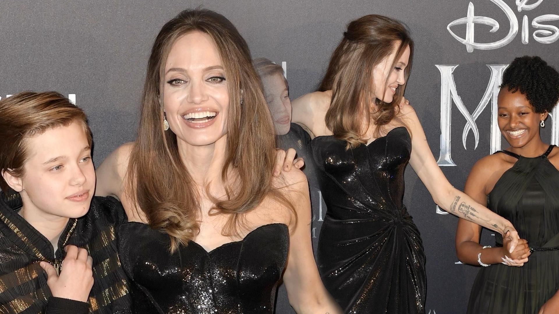 Angelina Jolie z Zaharą i Shiloh na premierze – aktorka odmłodniała o 10 lat (ZDJĘCIA)