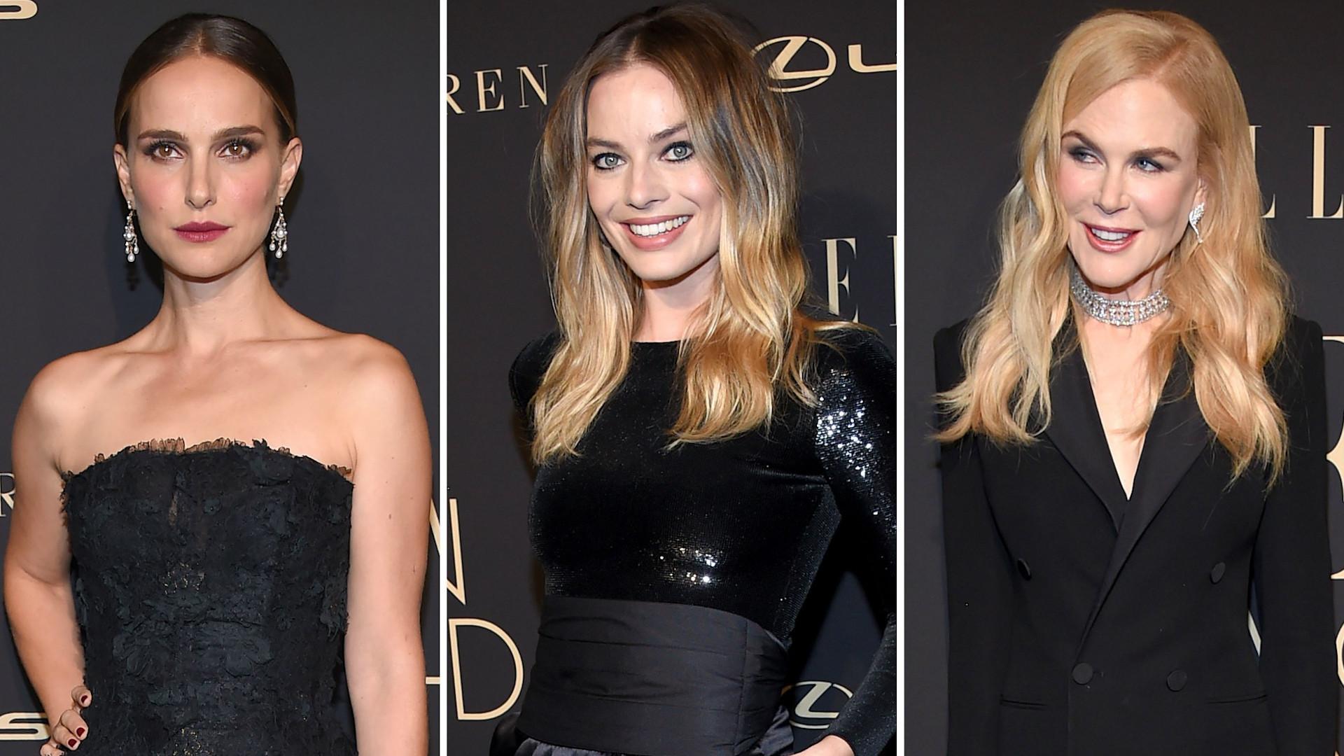 Gwiazdy w czerni na gali Elle w Hollywood (ZDJĘCIA)