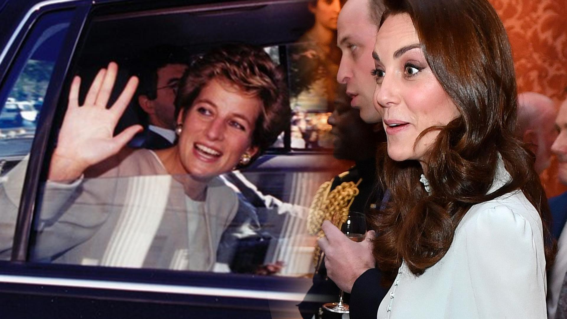 Księżna Kate musiała robić dziwną rzecz związaną z księżną Dianą