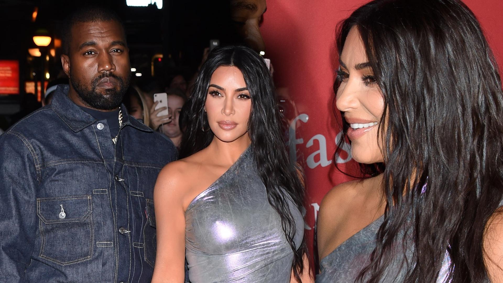 Zakochani Kim Kardashian i Kanye West na gali – celebrytka ledwo wcisnęła się w tę kreację (ZDJĘCIA)