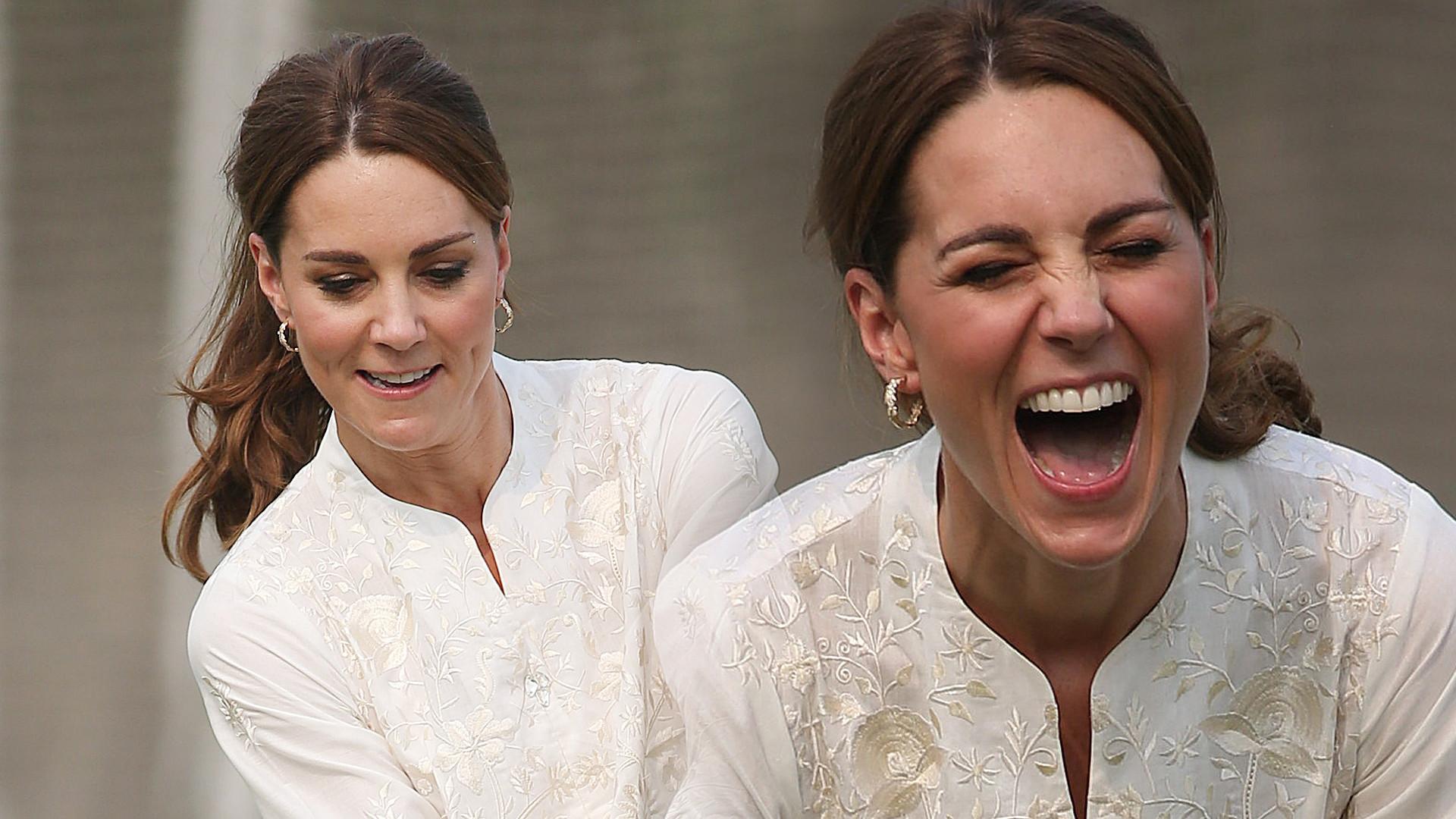 Dawno nie widzieliśmy takiej księżnej Kate! Cała na biało świetnie bawiła się na boisku (ZDJĘCIA)