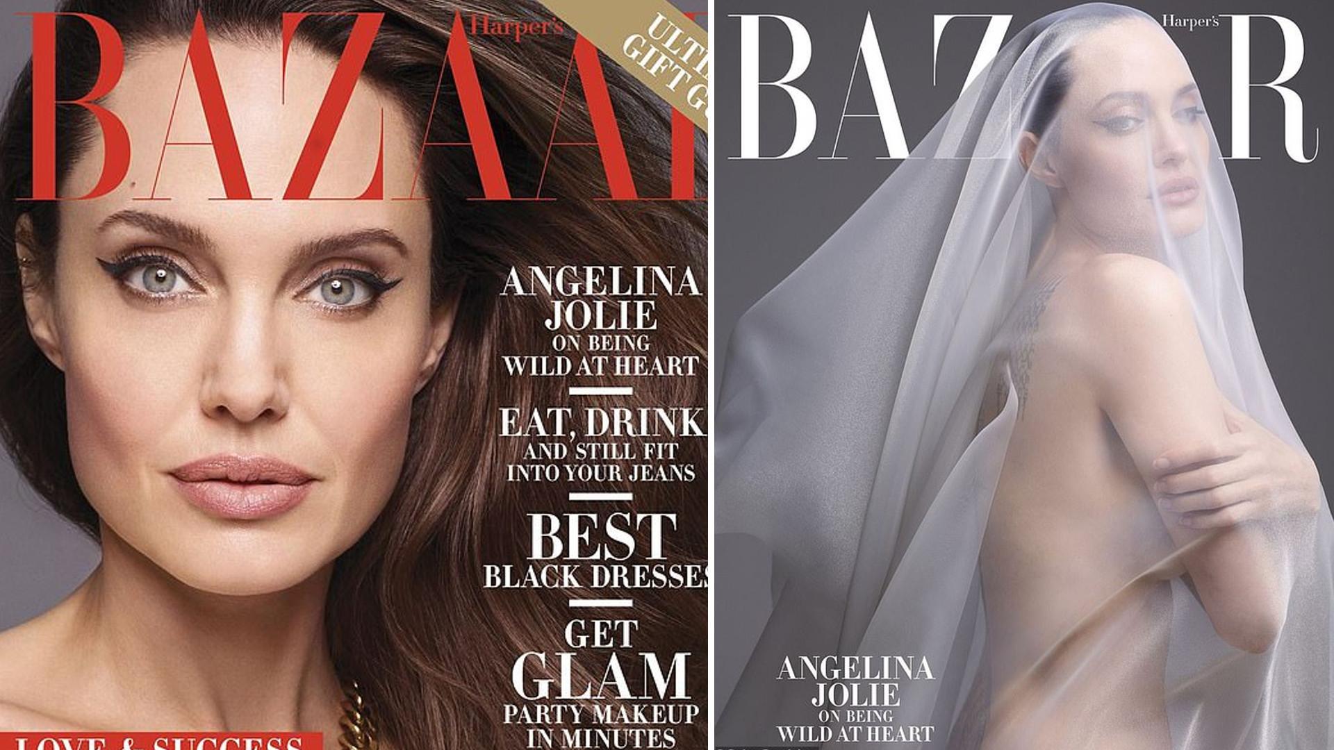 Naga Angelina Jolie na okładce Harper's Bazaar zapowiada, że wyprowadzi się ze Stanów