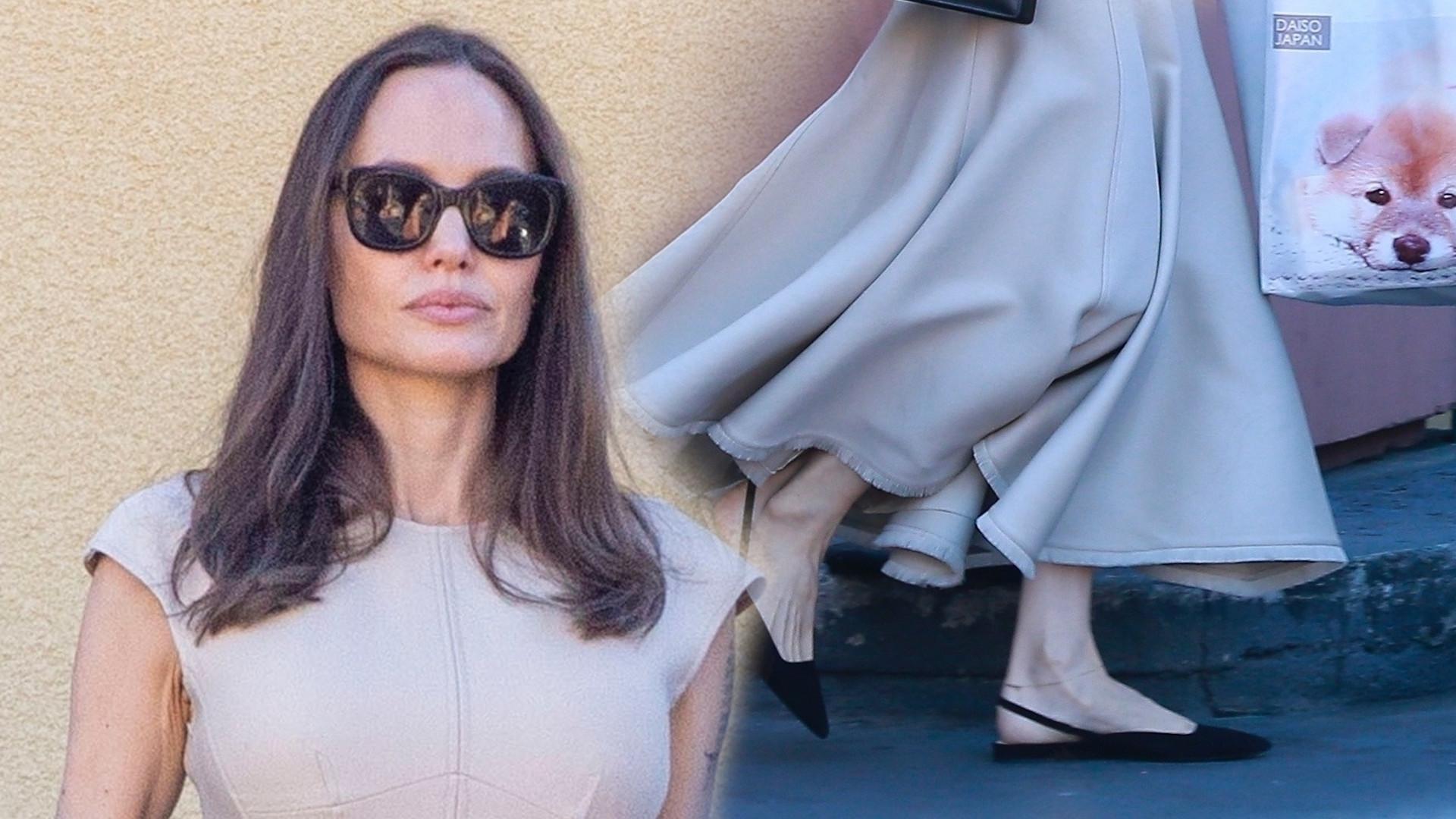 Angelina Jolie w pięknej sukience na zakupach. Zabrała swoją mini wersję – córkę Vivienne