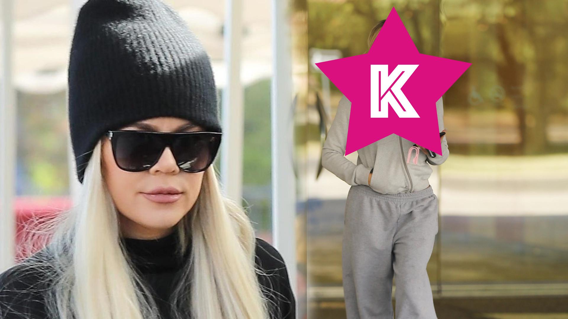 Khloe Kardashian z twarzą napuchniętą bardziej niż zwykle, pokazała się w wygodnym dresie