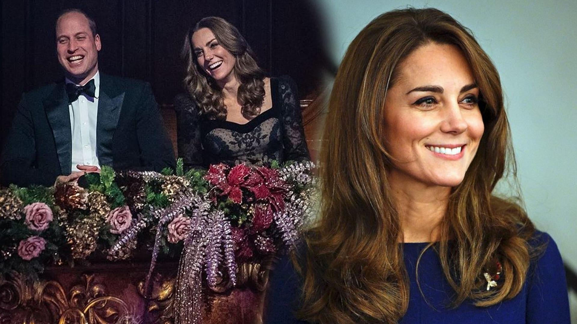Elegancka Kate Middleton w wieczorowej sukni z Księciem Williamem na pokazie Royal Variety (FOTO)