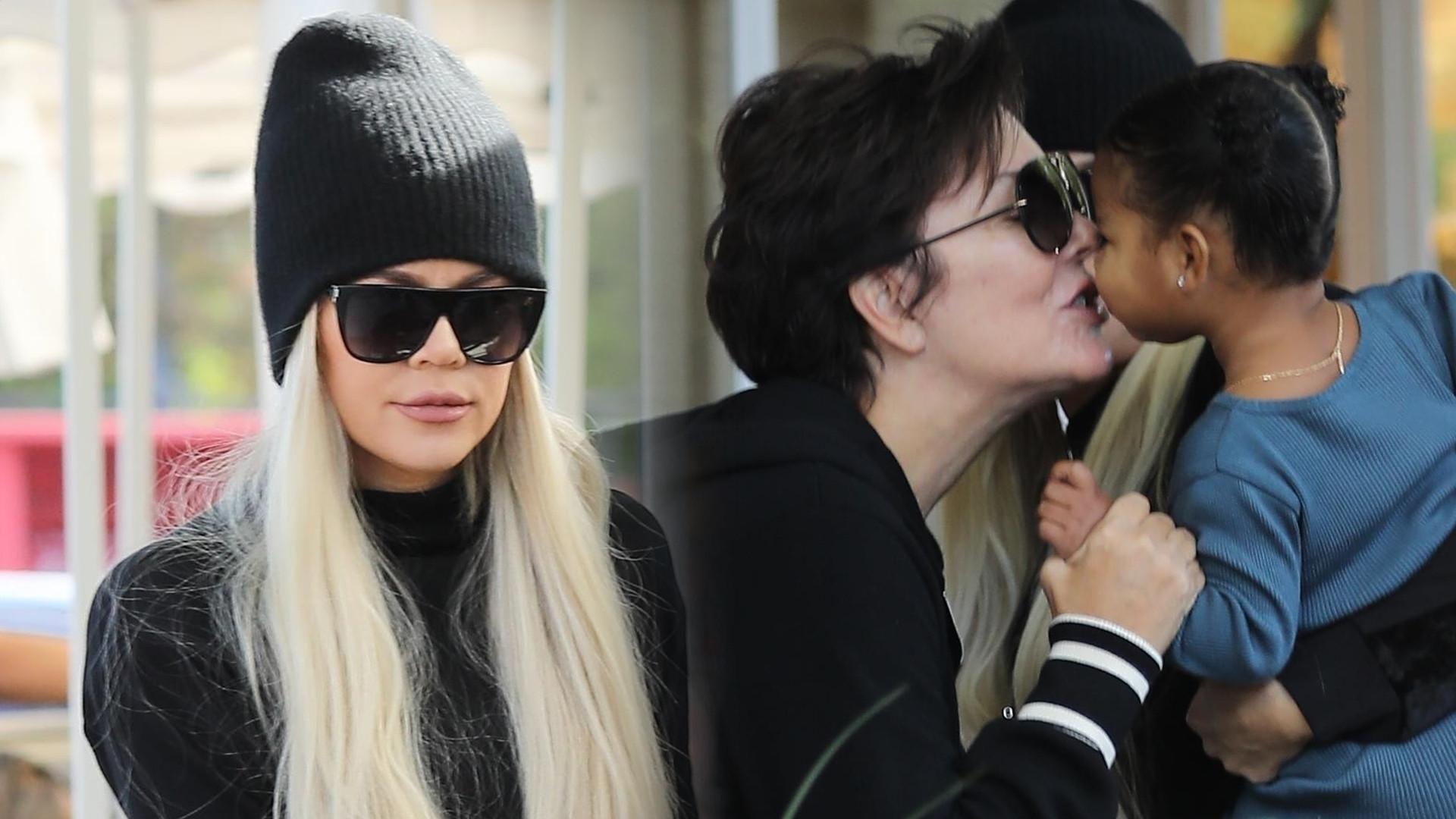 Khloe Kardashian z mamą i córką na targu (ZDJĘCIA)