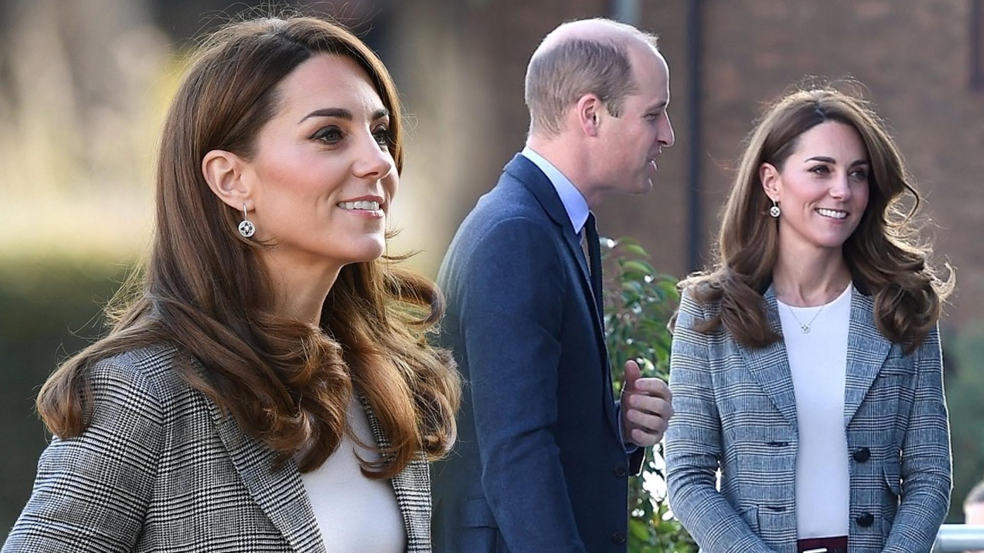 Księżna Kate prawie się przewróciła! Książę William szybko zareagował
