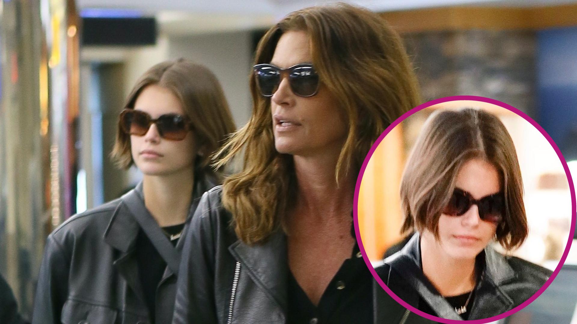 Kaia Gerber PRZYBITA po rozstaniu z chłopakiem na lotnisku z mamą (ZDJĘCIA)