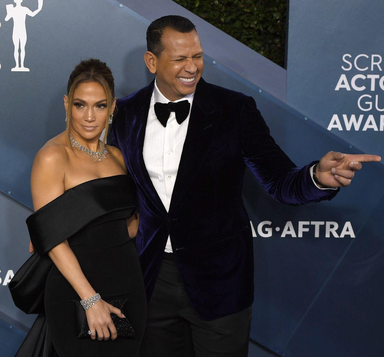 Jennifer Lopez i Alex Rodriguez na SAG Awards