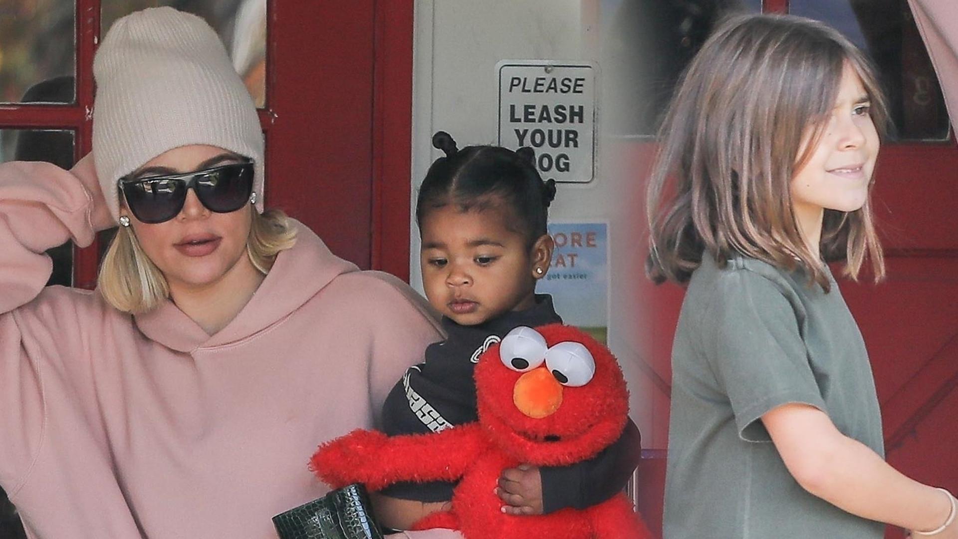 Ciocia Khloe Kardashian zabrała True i córkę Kourtney na zakupy (ZDJĘCIA)