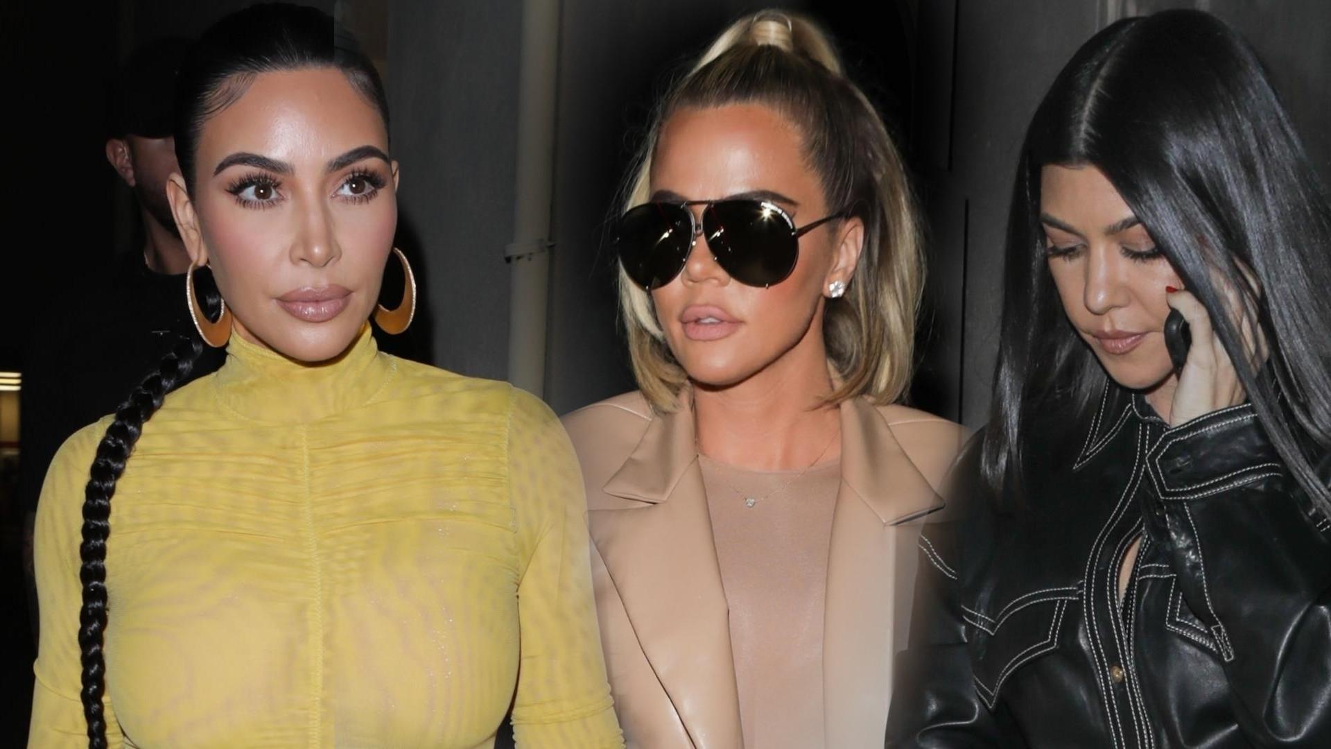 Kardashianki na kolacji. Khloe ma NOGI jak PATYKI! (ZDJĘCIA)