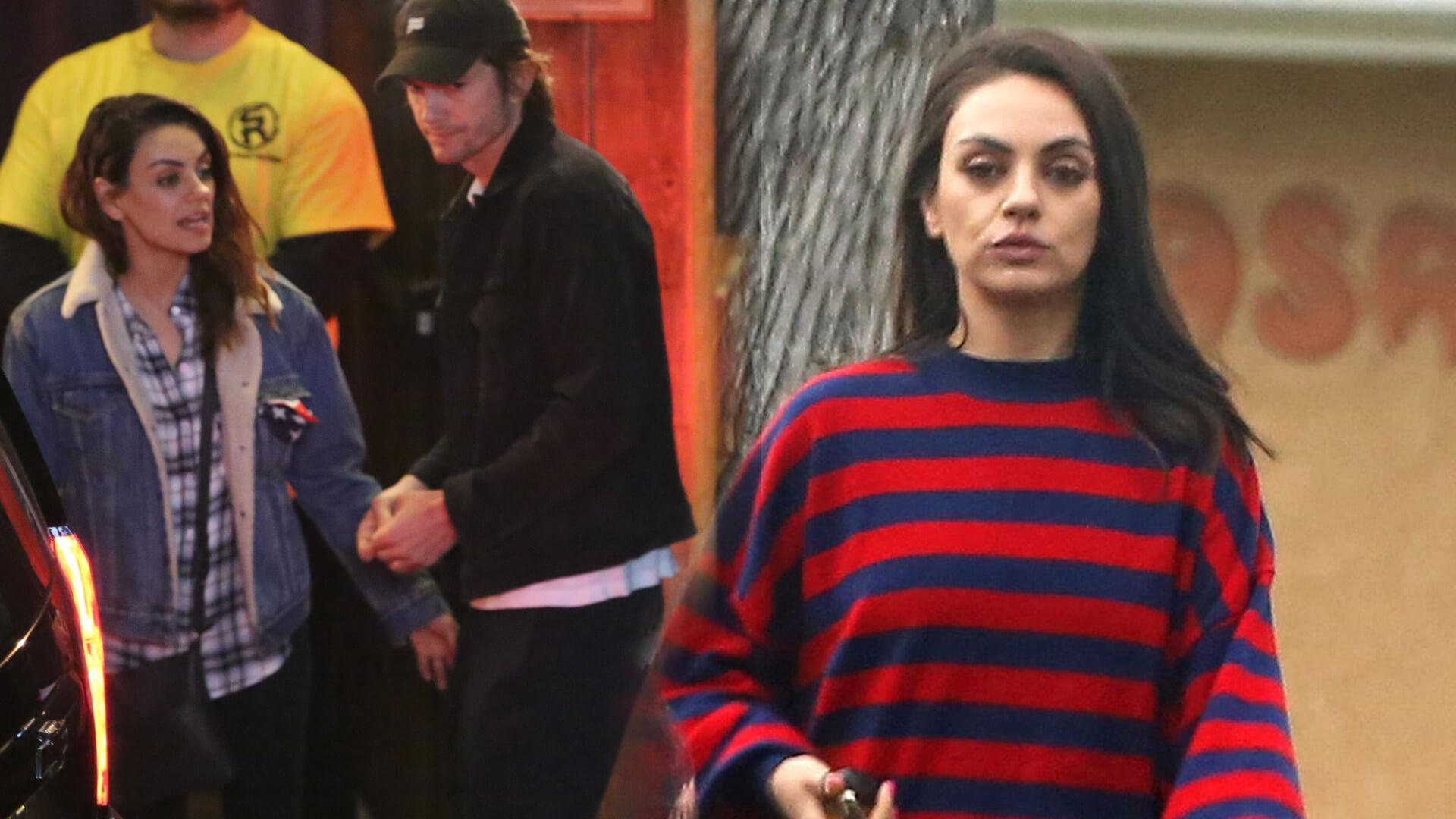 Ashton Kutcher i Mila Kunis POKŁÓCILI się na imprezie? Spójrzcie tylko, jaką MINĘ ma aktorka (FOTO)