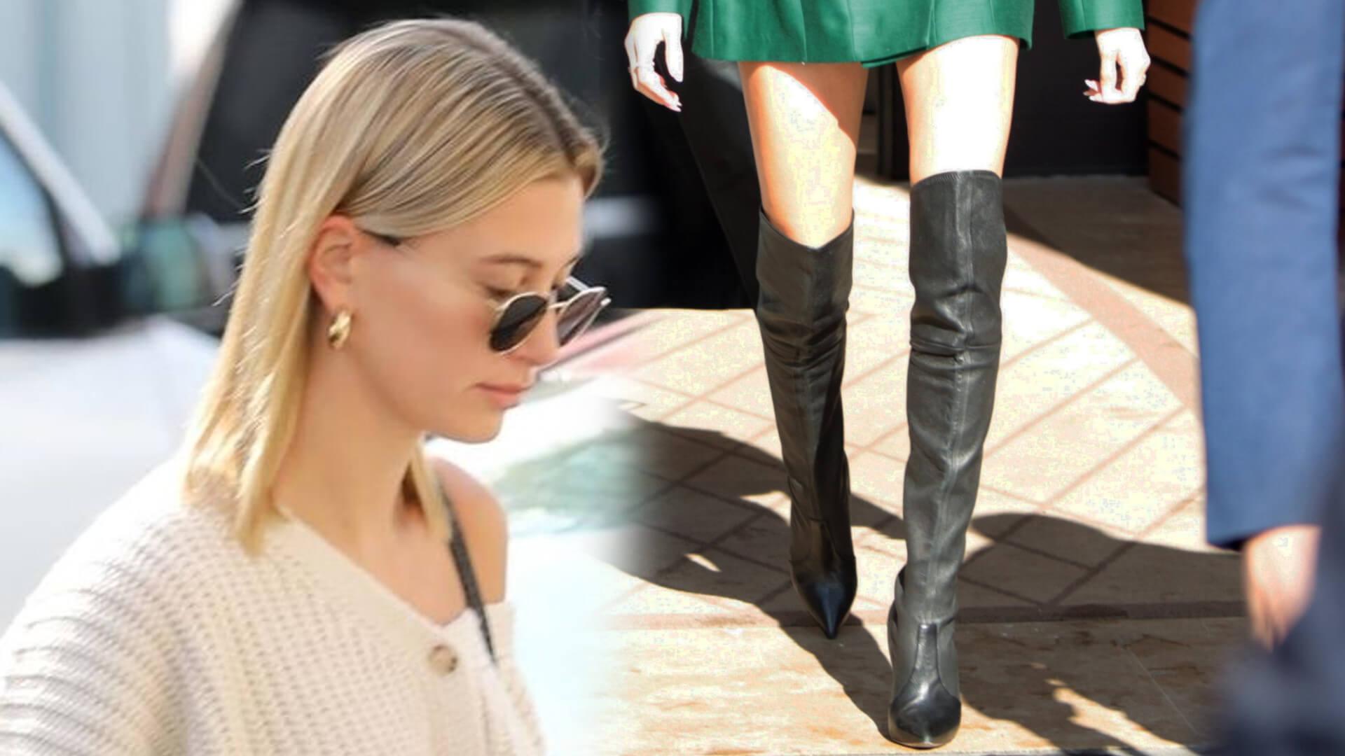 Stylowa Hailey Bieber jak członkini rodziny królewskiej, tylko spódniczka za krótka (FOTO)