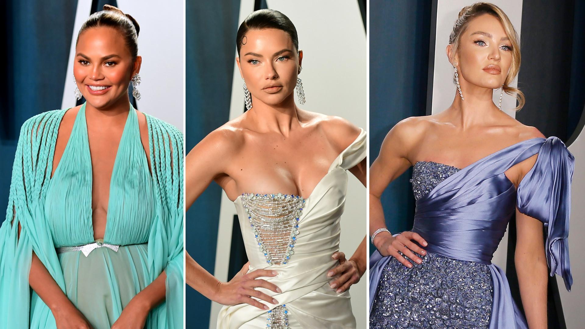 GENIALNE kreacje modelek na oscarowym Vanity Fair Party (ZDJĘCIA)
