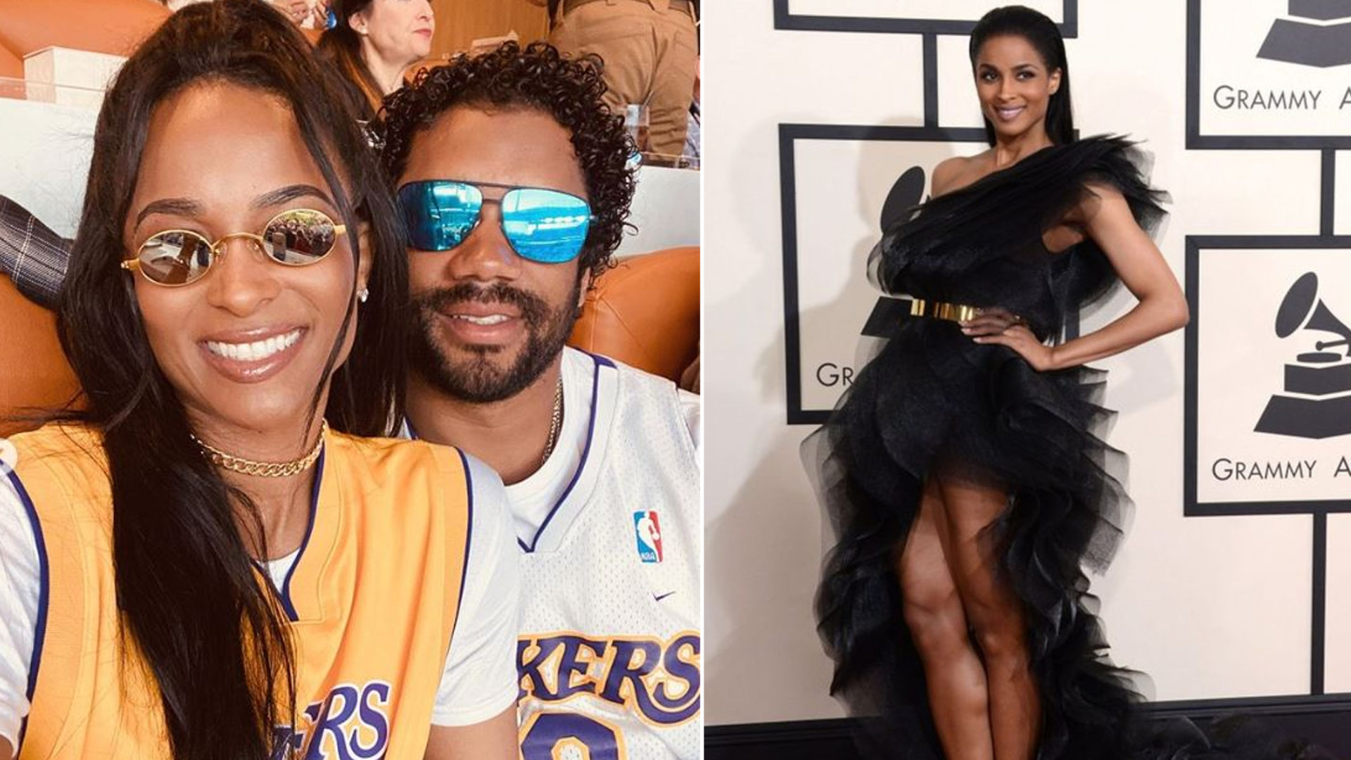 Ciara z mężem uczciła pamięć Kobe Bryanta. Spójrzcie tylko na jej brzuch ciążowy! (INSTAGRAM)