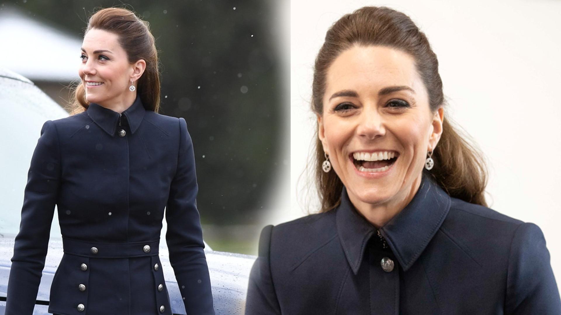 WOW! Zachwycająca Kate Middleton w czarnej stylizacji. Wygląda jak prawdziwa księżniczka (FOTO)