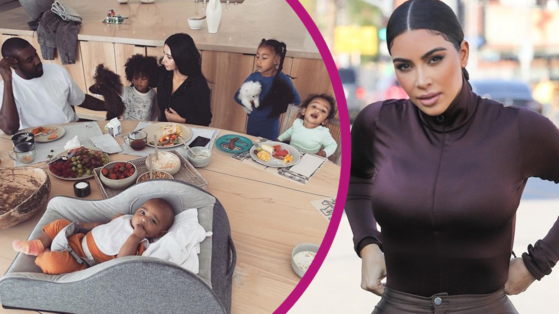 Tak wygląda DIETA dzieci Kim Kardashian. Ujawniła, czego NIE JEDZĄ