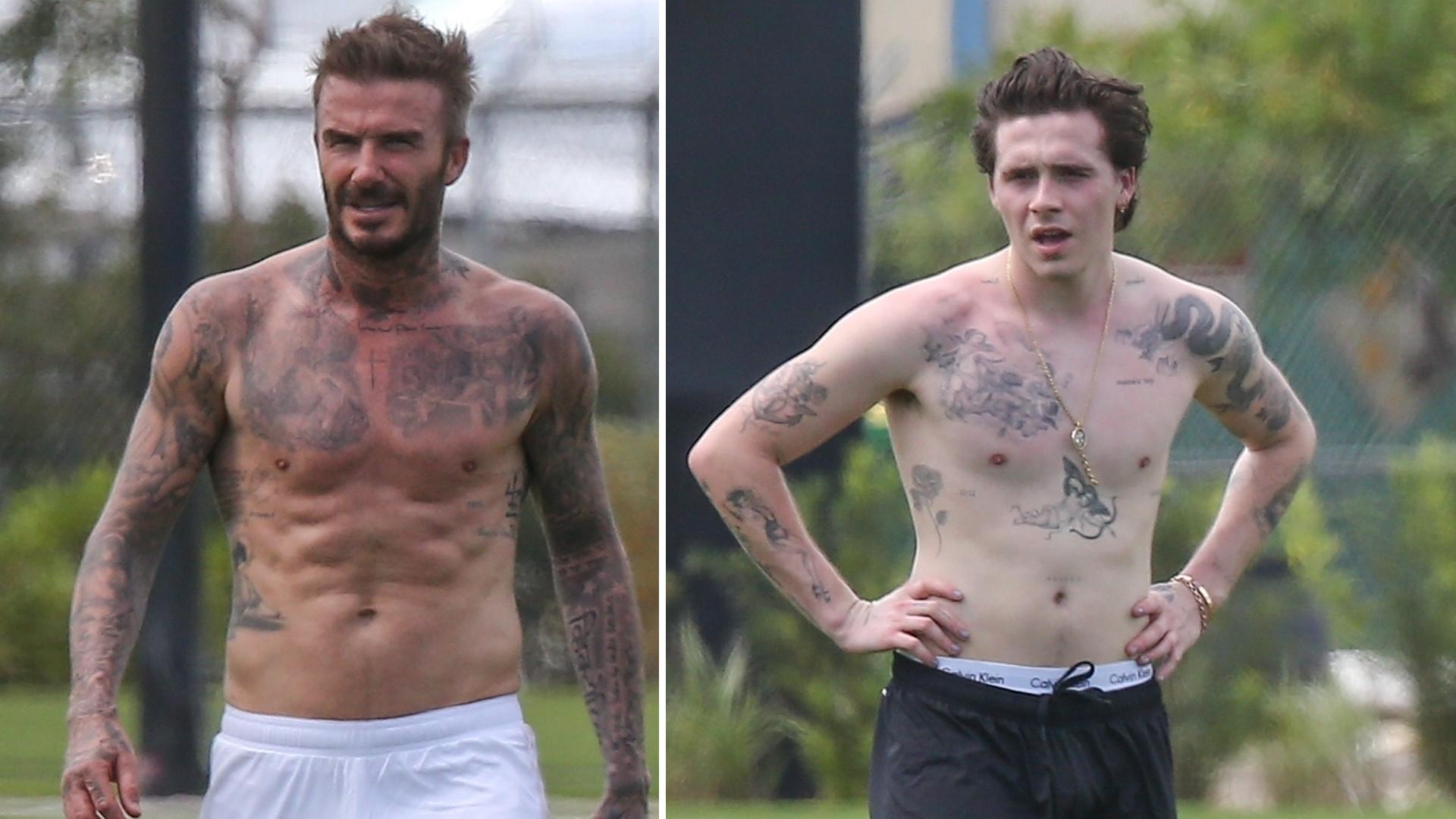 David Beckham ma 44 lata i sylwetkę LEPSZĄ od swego 21-letniego syna Brooklyna (ZDJĘCIA)