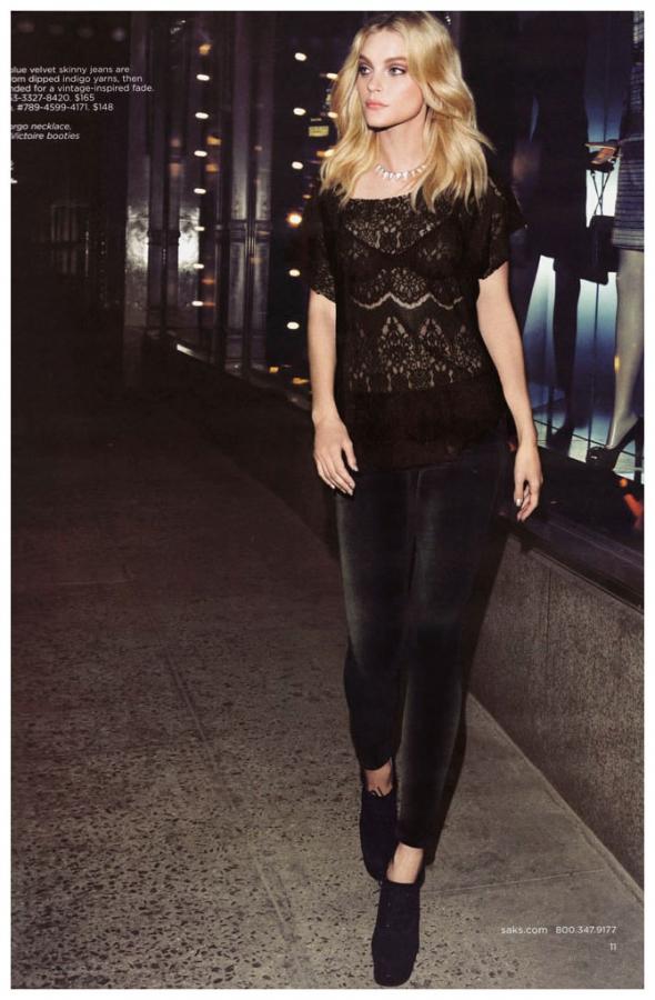 Jessica Stam w katalogu Saks Fifth Avenue